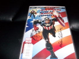 Allen Bellman Remarked on a Captain America #44 variant Comic Art